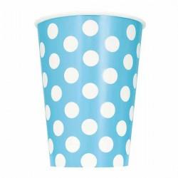 Light Blue Dots Paper Cups