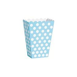 Contenitori Popcorn Azzurro a Pois