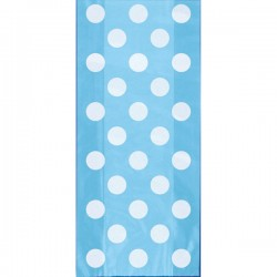 Light Blue Dots Treat Bags