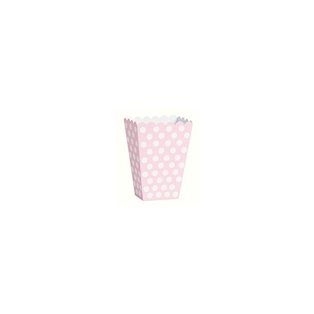 Light Pink Dots Treat Boxes