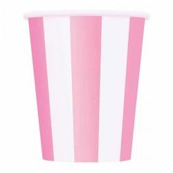 Pink Stripe Paper Cups