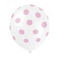 Palloncini lattice bianco a pois rosa