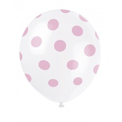Pink Dots Latex Balloons