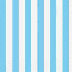 Light Blue Striped Lunch Napkins