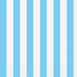 Light Blue Striped Dessert Plates