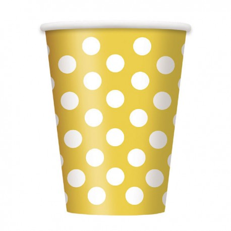 Yellow Dots Paper Cups