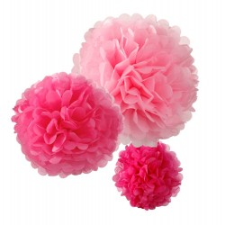 Bright Pink Fluffy Decorations