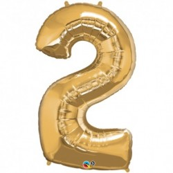 2 Gold SuperShape Foil Balloon