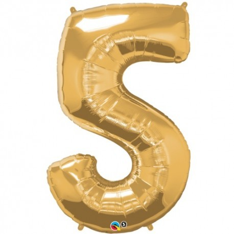 5 Gold SuperShape Foil Balloon