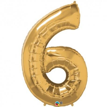 6 Gold SuperShape Foil Balloon