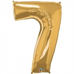 Palloncino foil gigante 7 Oro