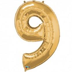 Palloncino foil gigante 9 Oro