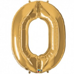 0 Gold SuperShape Foil Balloon