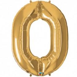 Palloncino foil gigante 0 Oro