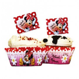 Kit Decorazione Cupcake Minnie 24pz
