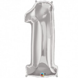 1 Silver SuperShape Foil Balloon