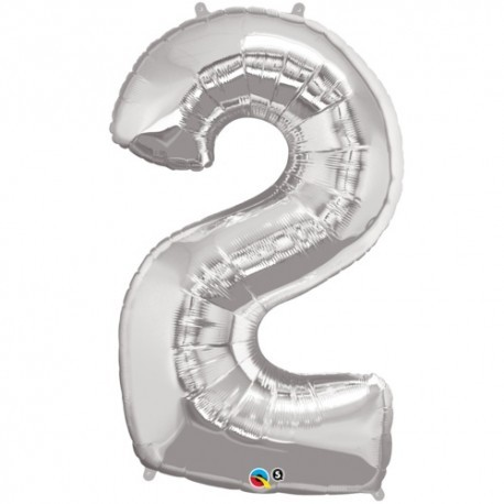 2 Silver SuperShape Foil Balloon