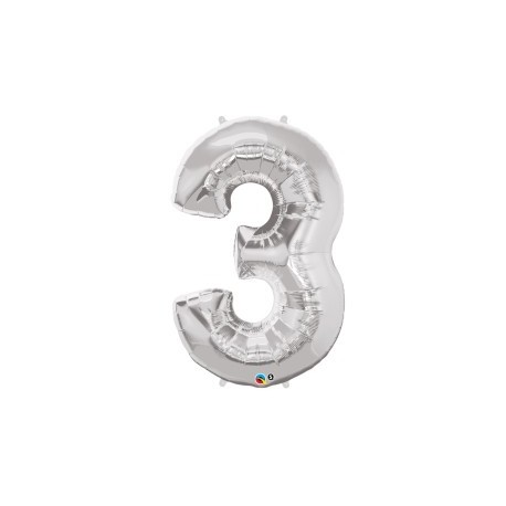 Palloncino foil gigante 3 Silver