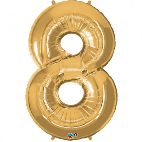 8 Gold SuperShape Foil Balloon