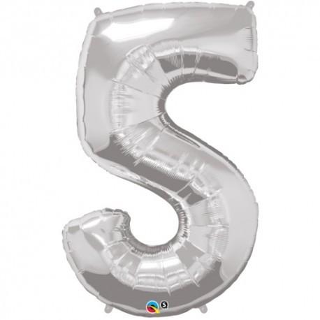 5 Gold SuperShape Foil Balloon