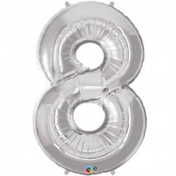 Palloncino foil gigante 8 Silver