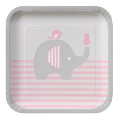 Piattini rosa elefante e nocciolina