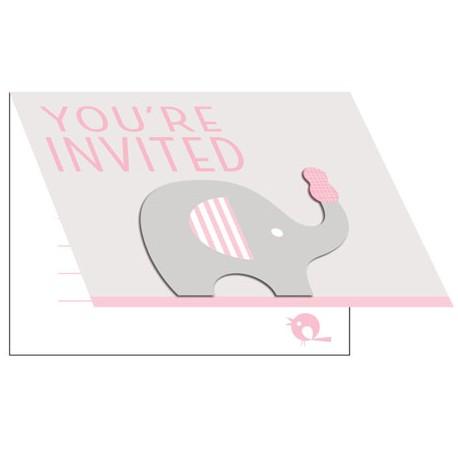 Little Peanut Girl Baby Shower Invitation
