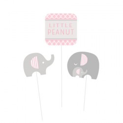 Set decorazione baby shower Little Peanut Girl