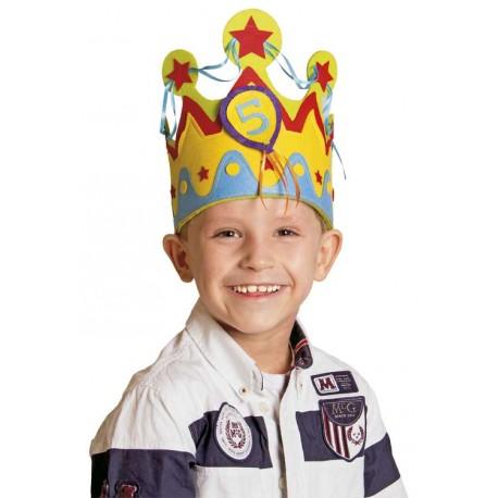 First Birthday Blue Felt Hat