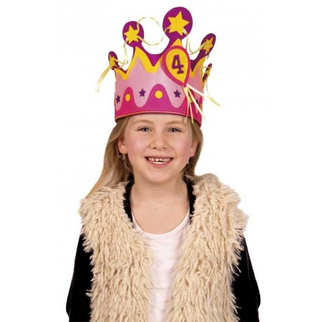 Felt Crown 1-5 pink