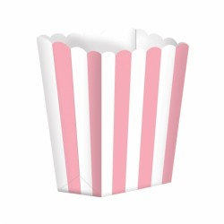 Light Pink Stripes Treat Boxes
