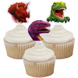 Dino Blast Cupcake Picks