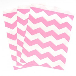 Chevron Pink Treat Bags