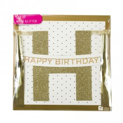 Festone Happy Birthday Glitter
