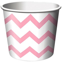 Chevron Pastel Pink Treat Cups