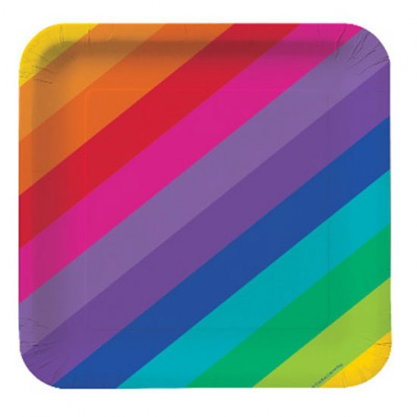 Piattini Rainbow - Festa Arcobaleno
