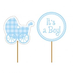 Stecchini decorati It's a Boy