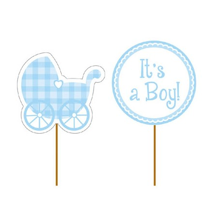 It's a Boy Cupcake Picks