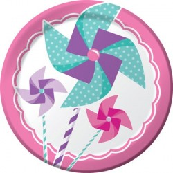 Turning One Girl Dessert Plates