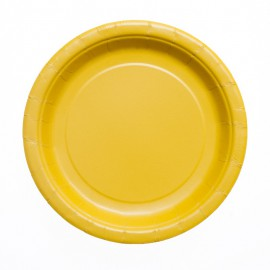 Piattini Carta Giallo 18cm 8pz