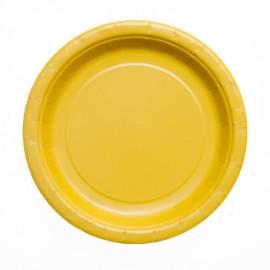 Yellow Paper Dessert Plates
