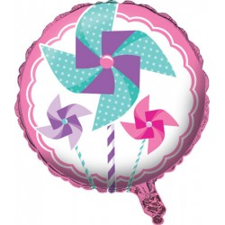 Turning One Girl Foil Balloon