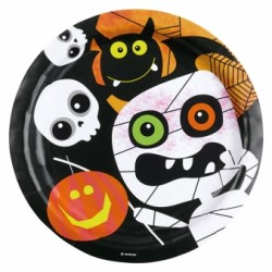 Friendly Mummy Halloween Plates