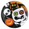 Friendly Mummy Halloween Plates
