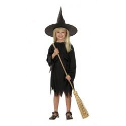 Costume Streghetta Nero per Halloween Bambini