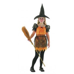 Orange Witch Costume 4-6 years