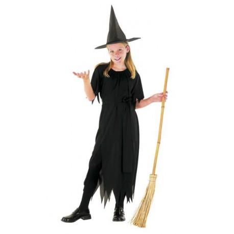 73dd881f2220 Costume Streghetta Nero per Halloween Bambini