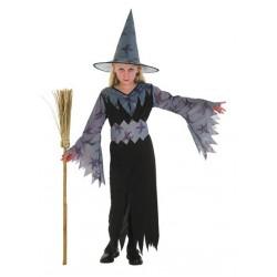 Costume Strega Grigio 7-9 anni
