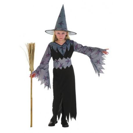 e04fe02d8a21 Costume Strega grigio e nero per Halloween Bambini
