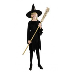 Black Witch Halloween Costume 10-12 years